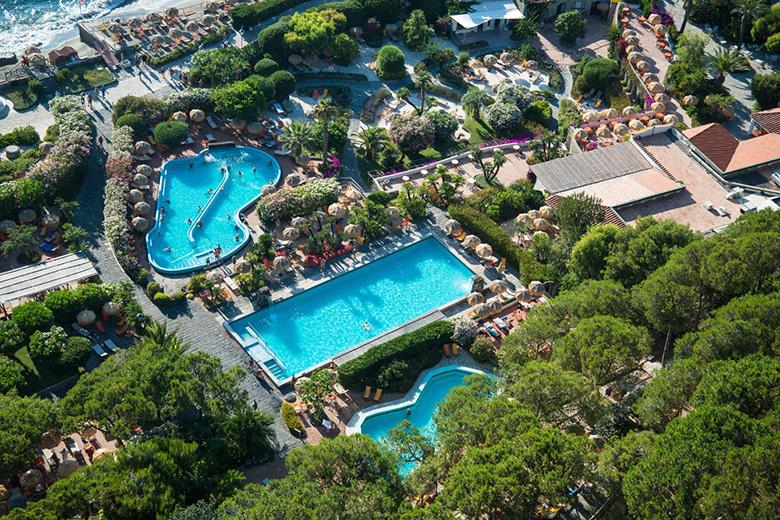 Ak ansichtskarte forio d ischia giardini poseidon swimming pool