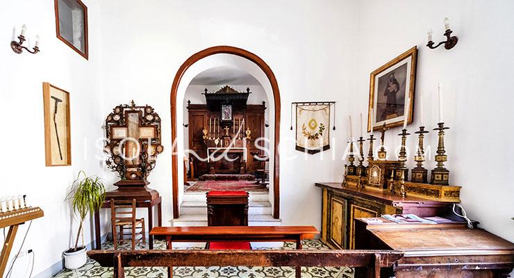 Interni della casa di San Giovan Giuseppe della Croce a Ischia Ponte